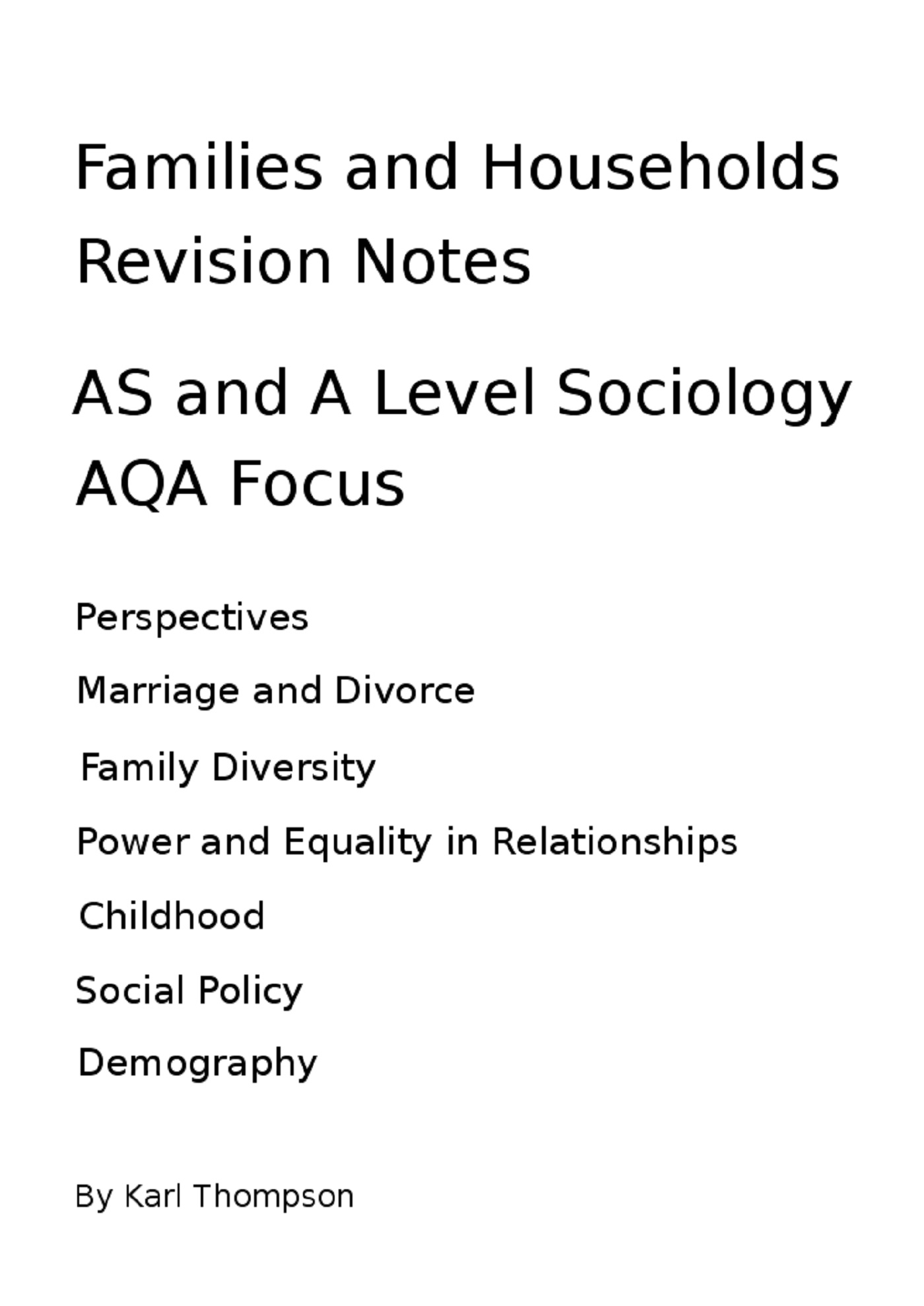 The New Right View Of The Family Revisesociology