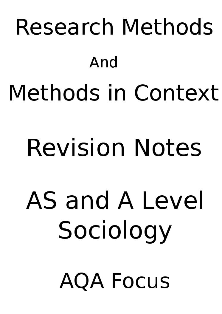 AS Sociology Exam Advice (AQA)