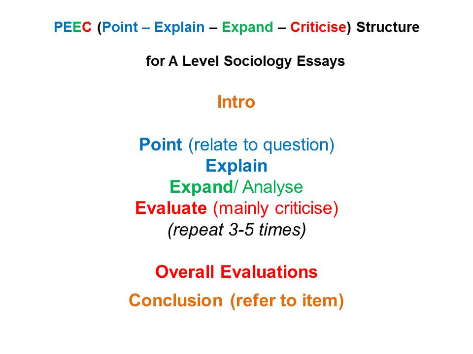 A Level Sociology Essays  How To Write Them  Revisesociology  Writing A Business Plan To Buy An Existing Business also Business Essay Format  Thesis Of A Compare And Contrast Essay